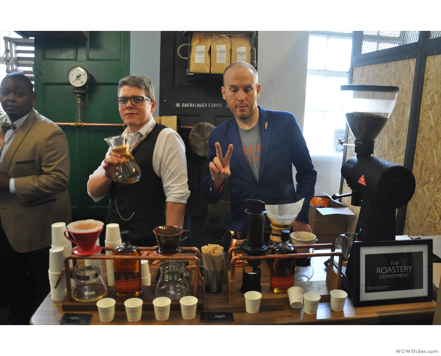 More new friends, Dumo (the roaster, left) and Gentlemen Baristas/Bulleit collaboration.