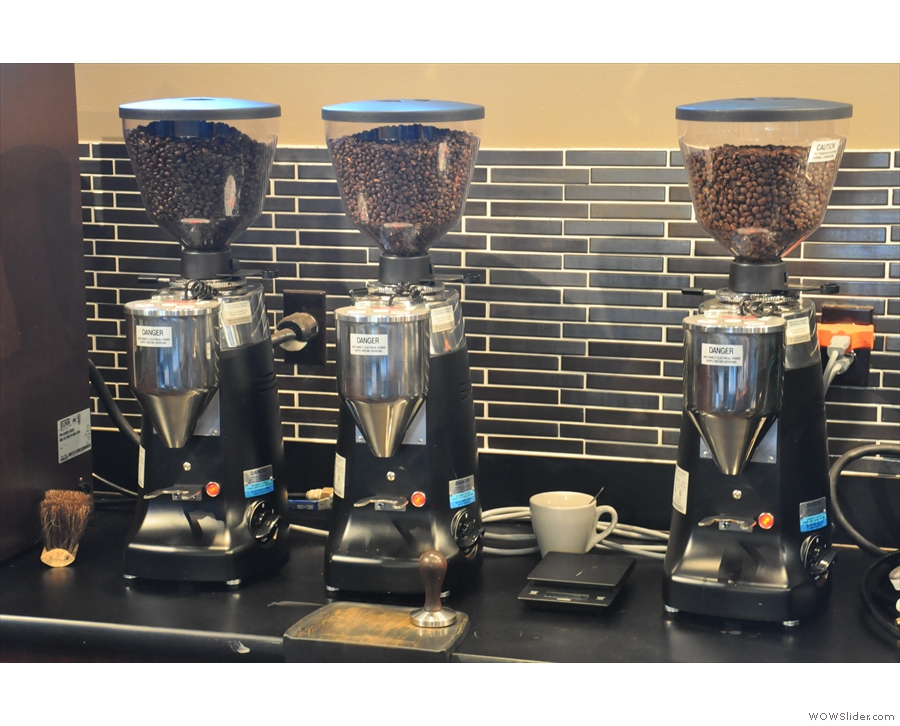 ... and its three grinders (house-blend, single-oriign and decaf)?