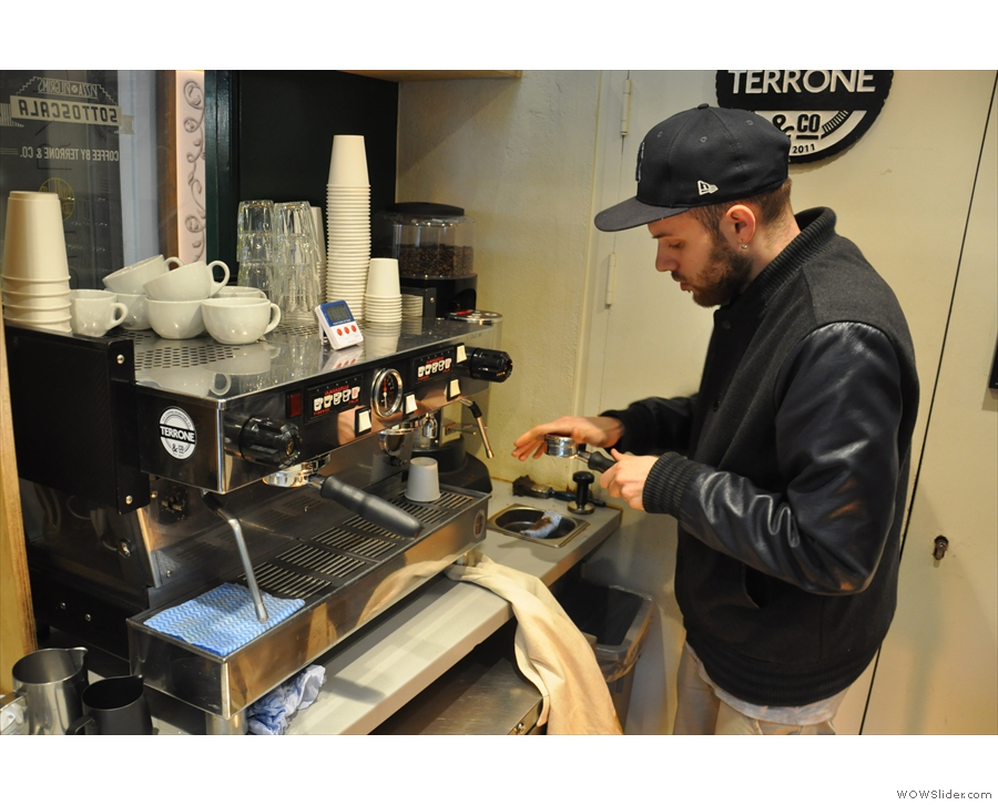 Time to put him to work making me an espresso.